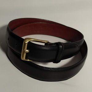 Coach Classic Black Leather Dress Belt